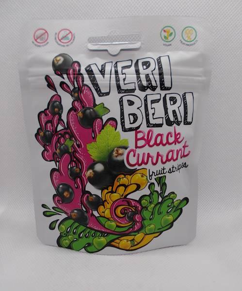 Żelki o smaku czarnej porzeczki bez cukru 50g Veri