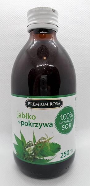 Sok jabłko pokrzywa 250 ml bez cukru Premium Rosa