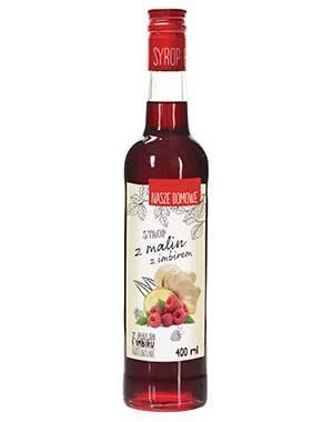 Syrop malina z imbirem 400 ml Premium Rosa