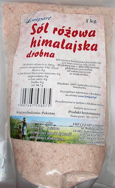 Sól himalajska różowa drobna 1 kg Lompart