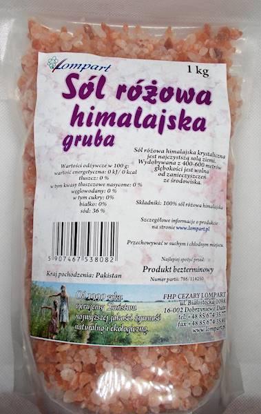 Sól himalajska różowa gruba 1 kg Lompart