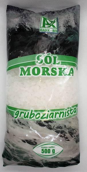 Sól morska gruboziarnista 500g Radix-Bis