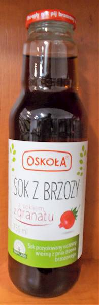 Sok z brzozy z granatem 0,75l Oskoła