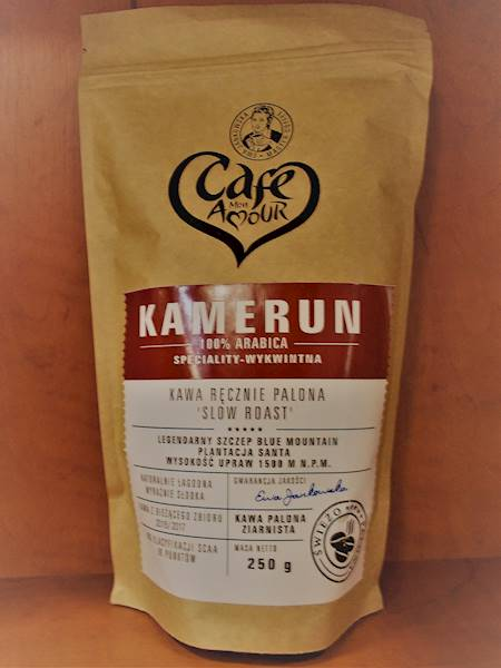 Kawa palona ziarna arabica 100% Kamerun 250g Cafe