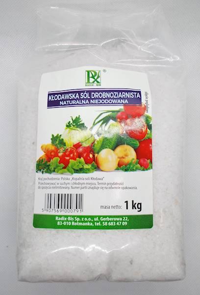Sól kłodawska drobnoziarnista niejodowana 1kg