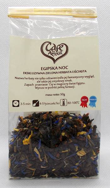 Herbata zielona liściasta egipska noc 50g