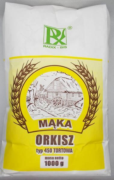 Mąka orkisz 1kg typ 450 tortowa Radix-Bis