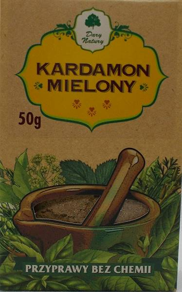 Kardamon mielony (kartonik) 50g Dary Natury