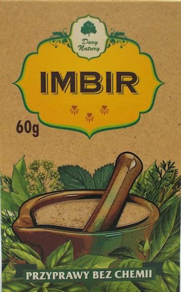 Imbir (kartonik) 60g Dary Natury
