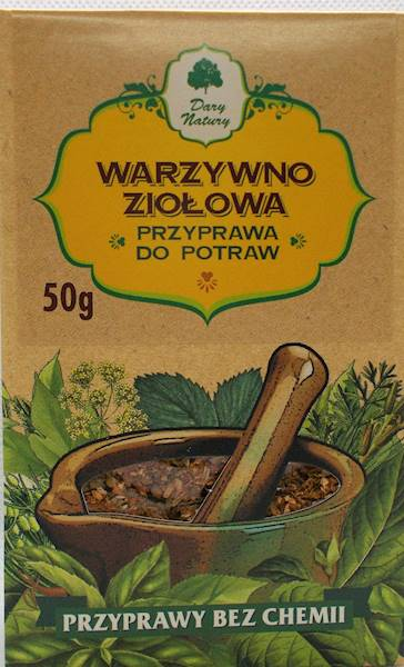 Warzywno-ziołowa prz. do potraw 50g Dary Natury
