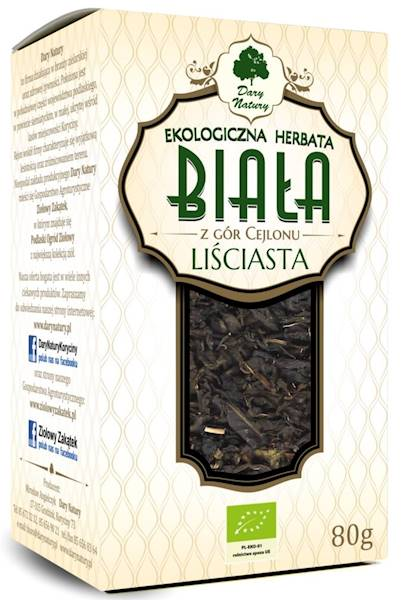 EKO Herbata biała liściasta 80g Dary Natury