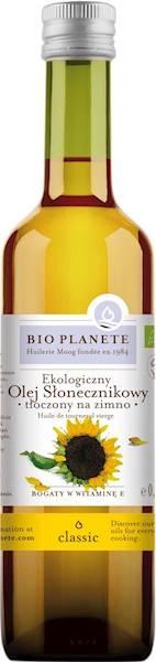 BIO Olej słonecznikowy virgin 500ml BioPlanete