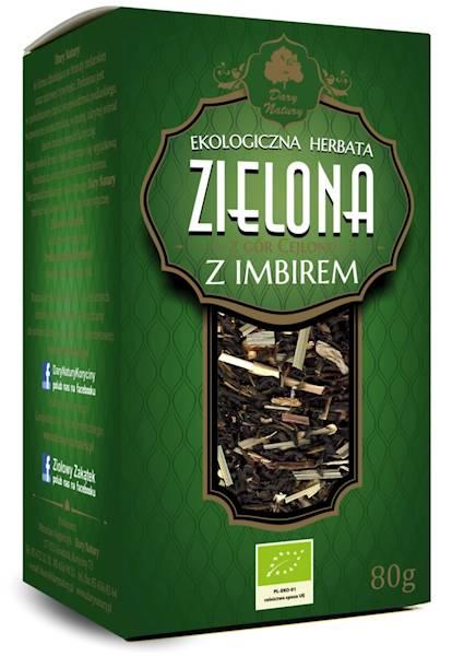 EKO Herbata zielona z imbirem 80g Dary Natury