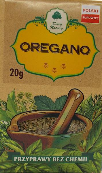 Oregano (kartonik) 20g Dary Natury
