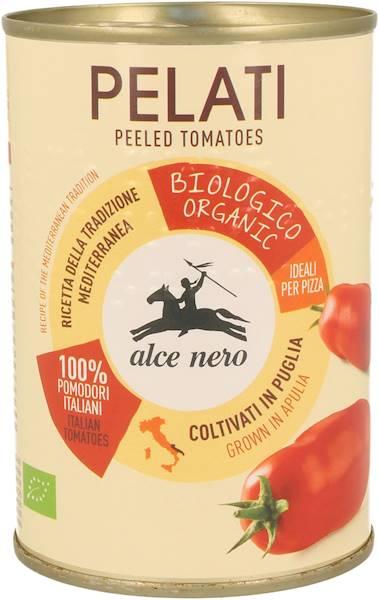 BIO Pomidory pelati b/skóry w puszce 400g Alce Ner