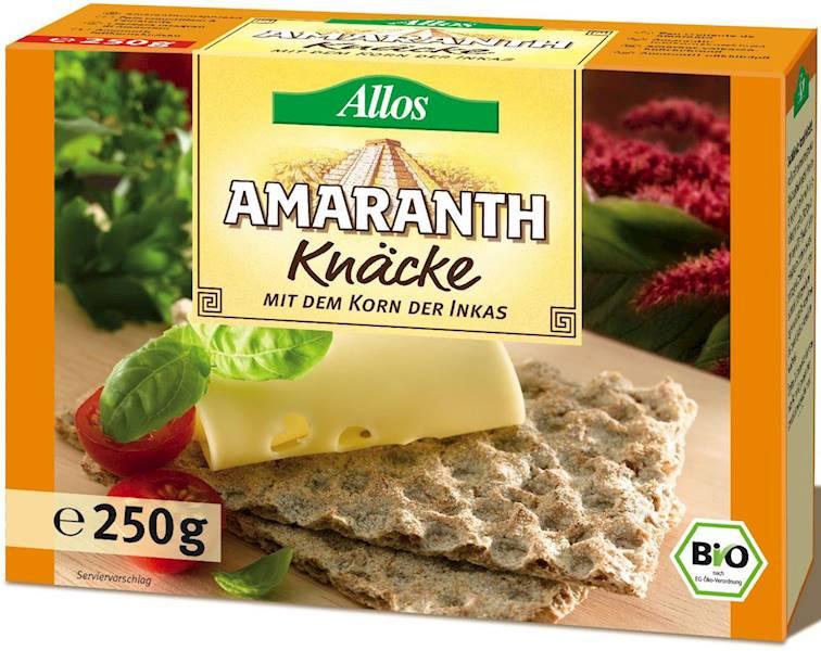 BIO Pieczywo chrupkie amarantusowe b/c 250g Allos