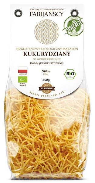 BIO Makaron kukurydziany nitka filini b/g 250g