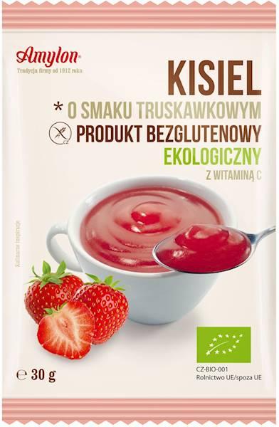 BIO Bezglutenowy kisiel truskawkowy 30g  Amylon