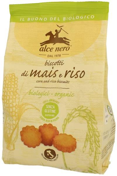 BIO Bezglut. ciastka kukur-ryżowe 200g Alce Nero