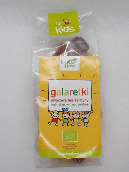 BIO Galaretki owocowe bez żelatyny 100g Bio Minki