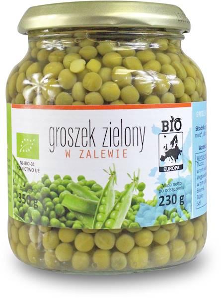 BIO Groszek zielony w zalewie w słoiku BIO Europa