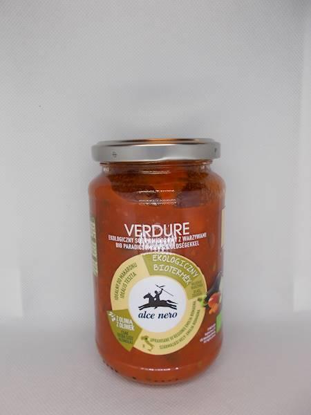 BIO Sos pomidorowy z warzywami 350g Alce Nero