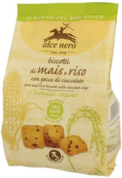 BIO Bezgluten. Herbatniki kukur-ryżowe z czekol