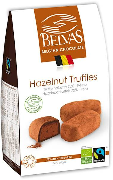 BIO Czekoladki truffle z orzechami laskowymi 100g
