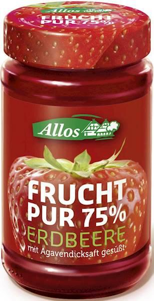 BIO Mus truskawkowy 75% owoców 250g