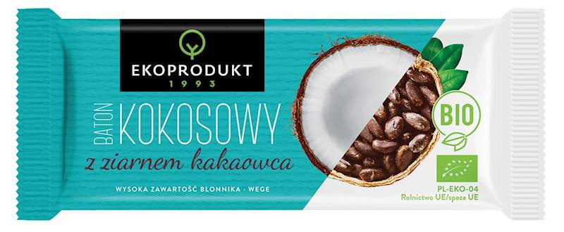 BIO Baton kokosowy z ziarnem kakaowca 30g