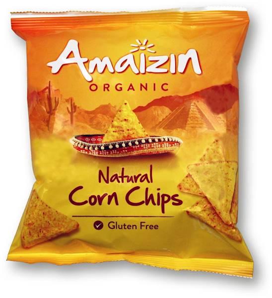 BIO b/glut. chipsy kukurydziane solone 75g