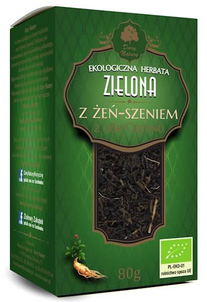 EKO Herbata zielona z żeń-szeniem  80g  DN