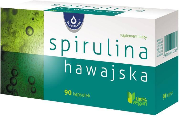 Spirulina hawajska 90 kapsułek Oleofarm