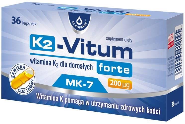 K2-Vitum forte 200ug 36 kapsułek Oleofarm