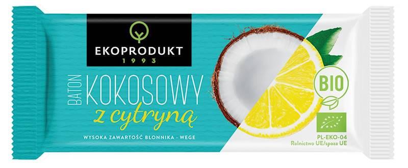 BIO Baton kokosowy z cytryną 30g