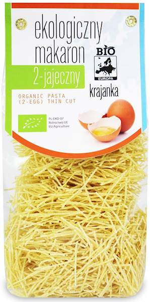 BIO Makaron 2-jajeczny krajanka 250g BioEuropa