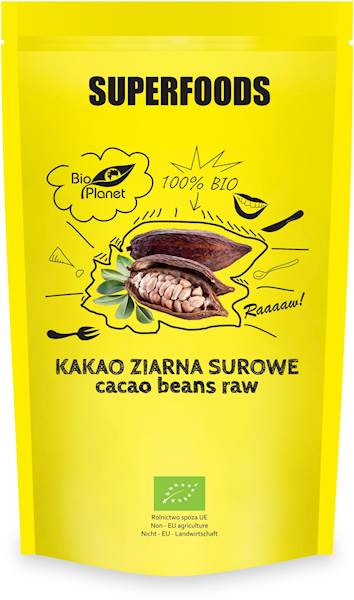 BIO Kakao ziarna surowe 200g BioPlanet