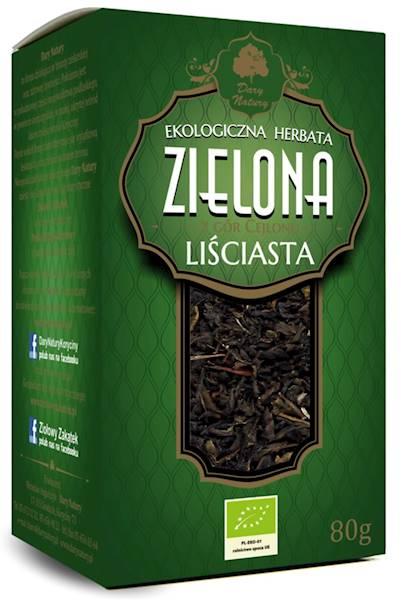 EKO Herbata zielona liściasta 80g