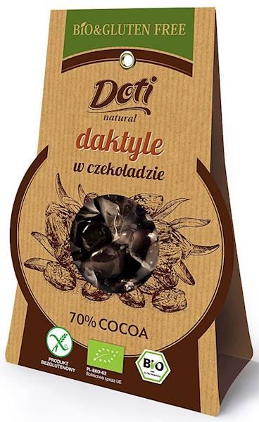 BIO Daktyle w czekoladzie deserowej b/glu 70g
