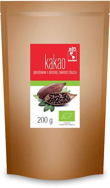 BIO Kakao sproszkowane o obniż. zaw. tłuszczu 200g