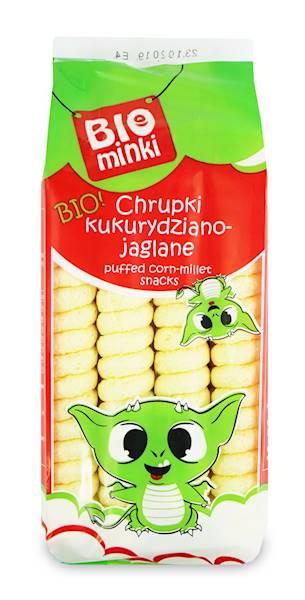 BIO Chrupki kukurydziano-jaglan spirale b/glut 60g