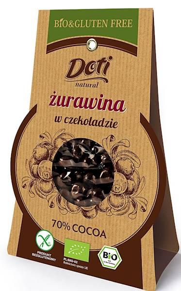 BIO Żurawina w czekoladzie deserowej b/glu 50g