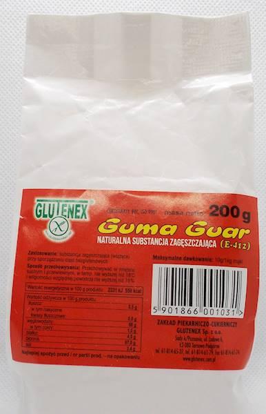 Guma guar naturalna substancja zagęszczająca 200g