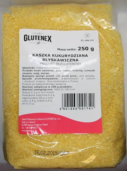 Kaszka kukurydziana naturalna błyskawiczna 250G Gl