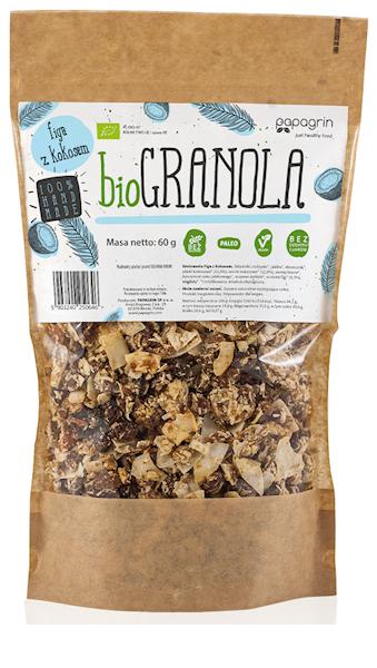 BIO Bezglutenowa granola figa z kokosem 60g