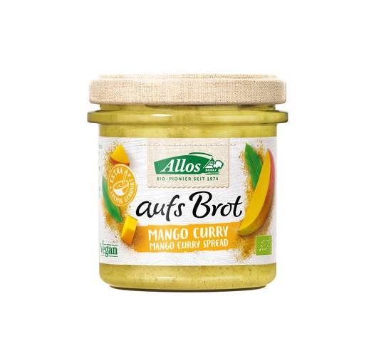 Pasta kremowa z mango i curry b/g bio 140g Allos