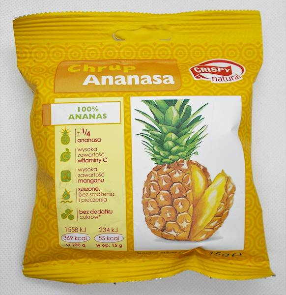 Chipsy z ananasa 15g Crispy