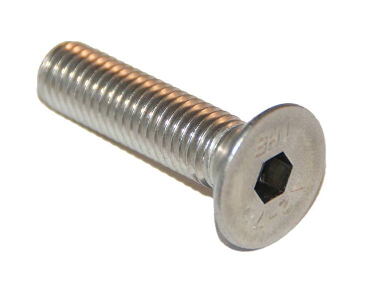 ŚRUBA M4x40 ISO 10642 (DIN7991) A2 PEŁNY GWIN