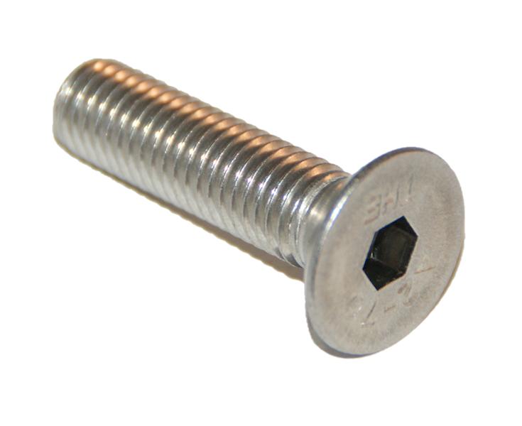 ŚRUBA M6X25 ISO 10642 (DIN 7991) A2 PEŁNY GWINT