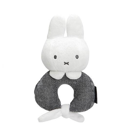 Tiamo - Miękka grzechotka Miffy szara